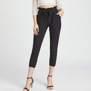 Pants - Black paperbag pants
